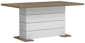 ESSTISCH rechteckig Kieferfarben, Weiß - Weiß/Kieferfarben, KONVENTIONELL (160/90/76cm) - Hom`in