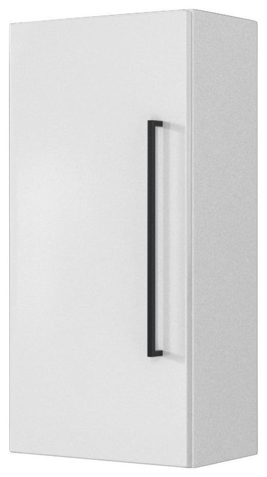 OBERSCHRANK Weiß - Schwarz/Weiß, Design, Holzwerkstoff/Metall (30/64/20cm) - Carryhome