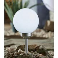 SOLARLEUCHTE - Silberfarben/Weiß, Design, Kunststoff (20/52cm) - Boxxx