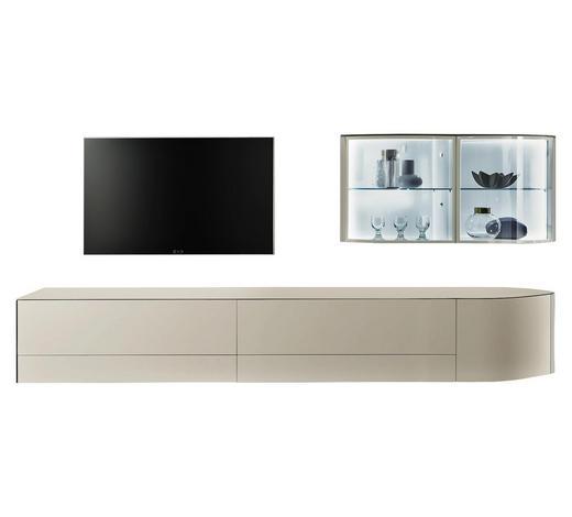 WOHNWAND in Weiß - Weiß, Design, Glas/Holzwerkstoff (355,2/165/49,9cm) - Hülsta