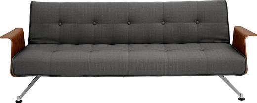 SCHLAFSOFA Webstoff Anthrazit - Chromfarben/Anthrazit, Design, Textil/Metall (232/77/92-115cm) - Innovation