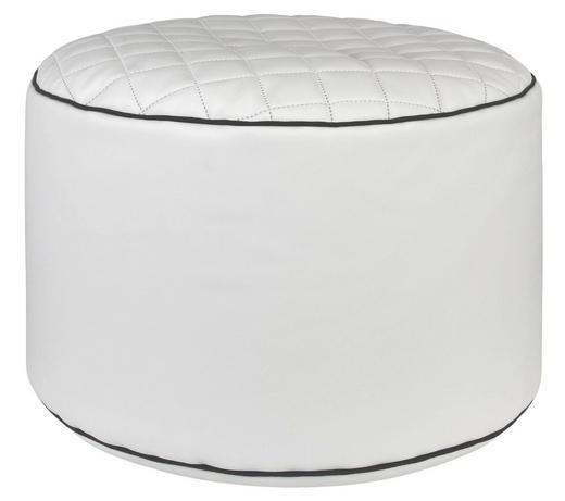 HOCKER Lederlook Weiß - Schwarz/Weiß, Design, Textil (50/30cm) - Carryhome