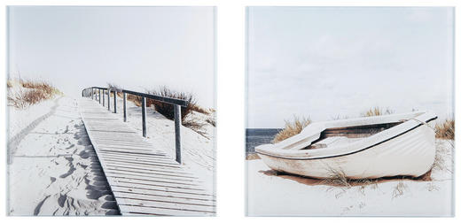 Landschaft & Natur, Strand & Meer GLASBILD - Multicolor, Basics, Glas