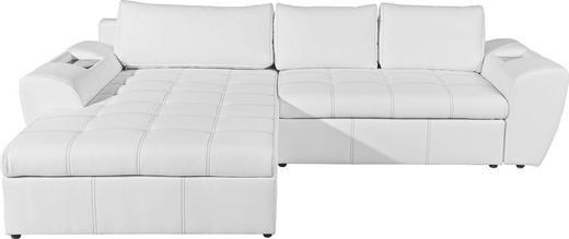 WOHNLANDSCHAFT in Weiß Textil - Schwarz/Weiß, Design, Kunststoff/Textil (290/78/204cm) - CARRYHOME