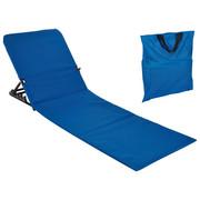 STRANDLIEGE Stahl pulverbeschichtet Polyvinylchlorid (PVC), Schaumstoff Blau - Blau, Basics, Kunststoff/Metall (145/47/52cm)