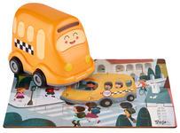 Holzpuzzle mit Schulbus - Multicolor/Orange, Basics, Kunststoff (14,6/10/15cm) - My Baby Lou