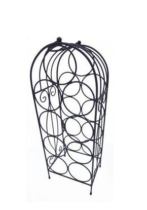FLASKHÅLLARE - antracit, Klassisk, metall (20/59/15cm) - Ambia Home