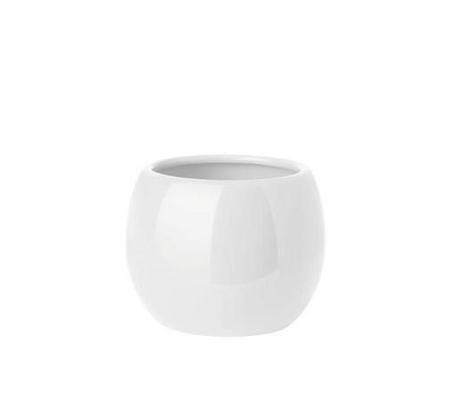 MUNDSPÜLBECHER Keramik - Weiß, Basics, Keramik (9/7.5cm) - Sadena