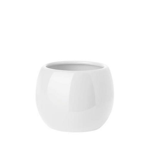 MUNDSPÜLBECHER - Weiß, Design, Keramik (9/7.5cm)