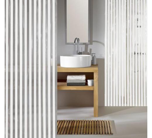 ZAVJESA ZA TUŠ - bijela/prozirno, Konvencionalno, plastika (180/200cm) - Kleine Wolke