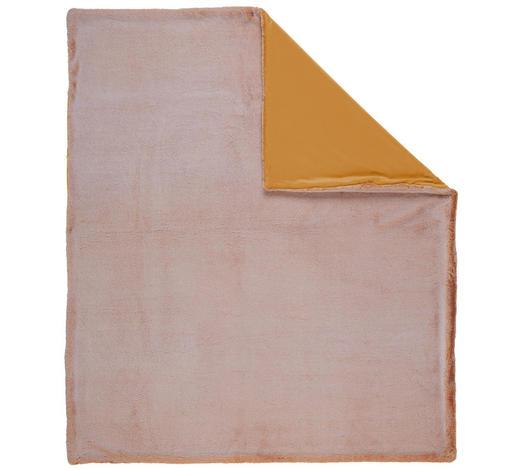 FELLDECKE 150/200 cm  - Terra cotta, Basics, Textil (150/200cm) - Novel