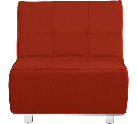 SCHLAFSESSEL in Textil Orange, Rot - Chromfarben/Rot, Design, Textil/Metall (84/88/103cm) - Novel