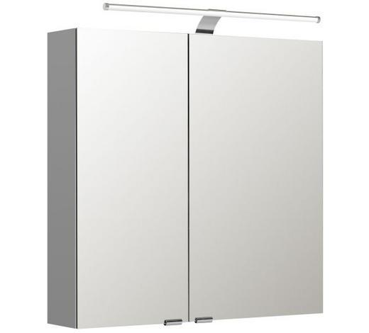 SPIEGELSCHRANK Weiß  - Weiß, Basics, Glas/Holzwerkstoff (70/70/16cm) - Sadena