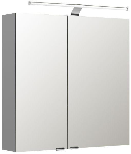 SPIEGELSCHRANK Weiß - Weiß, Design, Glas/Holzwerkstoff (70/70/16cm) - Sadena