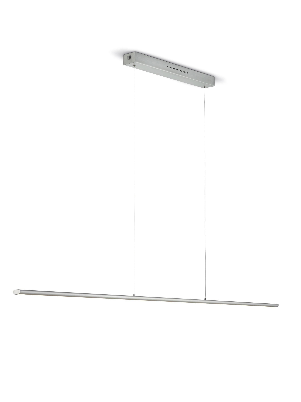 HÄNGELEUCHTE - Nickelfarben, LIFESTYLE, Metall (110cm)