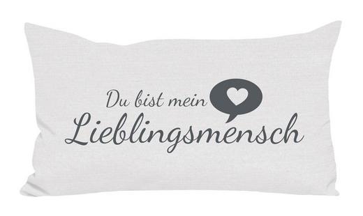 ZIERKISSEN 30/50 cm - Weiß, Trend, Textil (30/50cm) - Novel