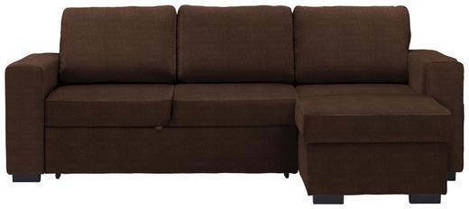 WOHNLANDSCHAFT in Textil Braun - Schwarz/Braun, Design, Kunststoff/Textil (244/162cm) - Carryhome