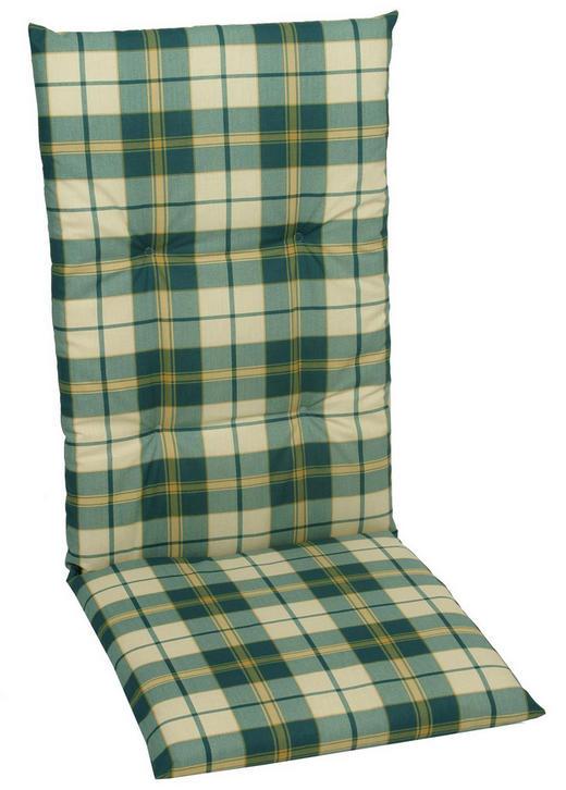 SESSELAUFLAGE Karo - Grün, Design, Textil (118/50/5cm)
