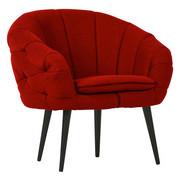 FOTELJ,  temno rdeča tekstil - črna/temno rdeča, Design, tekstil/les (80/77/68cm) - Pure Home Lifestyle