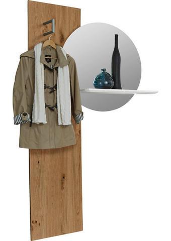 GARDEROBNI PANEL - bela/hrast, Design, steklo/leseni material (114,4/195,6/23,8cm) - Ambiente by Hülsta