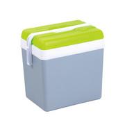 KÜHLBOX Grau, Grün  - Grau/Grün, Basics, Kunststoff (37/40/27cm)