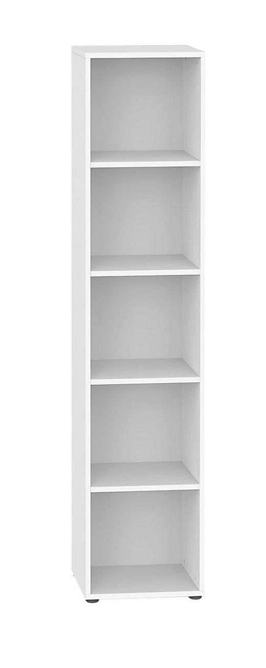 REGAL Weiß - Schwarz/Weiß, Design, Holz/Kunststoff (40/195.5/32.5cm) - WELNOVA