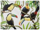 Tiere BILD - Multicolor, Basics, Holz/Textil (120/90cm) - MONEE
