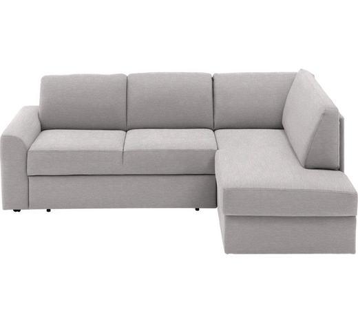 WOHNLANDSCHAFT in Textil Grau - Schwarz/Grau, KONVENTIONELL, Kunststoff/Textil (227/167cm) - Venda