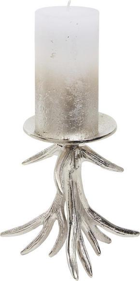 LJUSSTAKE - nickelfärgad, Design, metall (17/19/15,5cm) - Ambia Home