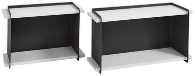 WANDREGALSET - Anthrazit/Weiß, Design, Holzwerkstoff/Metall - Xora
