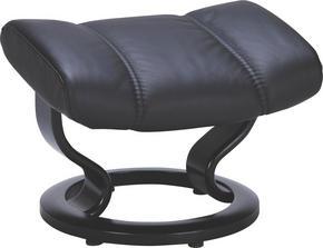 PALL - svart, Klassisk, läder/trä (54/38/39cm) - Stressless