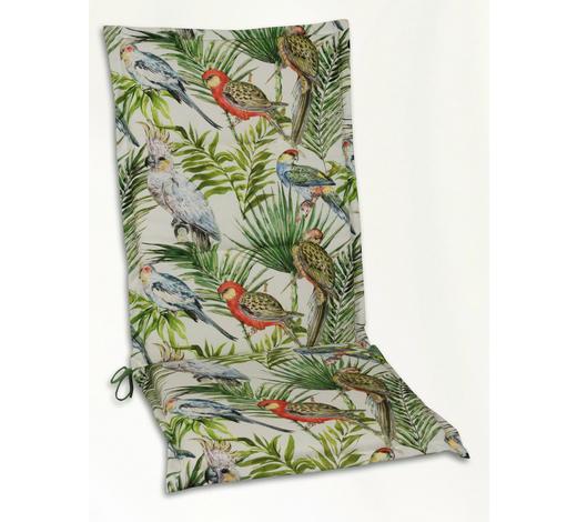 SESSELAUFLAGE in Multicolor Vogel  - Multicolor, Design, Textil (48/118/4cm)