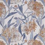 VORHANGSTOFF per lfm blickdicht  - Blau/Orange, Design, Textil (148cm) - Esposa