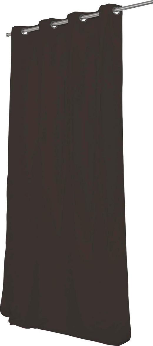 WÄRMESCHUTZVORHANG  Verdunkelung  145/260 cm - Dunkelbraun, Textil/Metall (145/260cm)