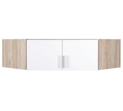 AUFSATZSCHRANK - Eichefarben/Alufarben, KONVENTIONELL, Holzwerkstoff/Kunststoff (117/39/117cm) - Carryhome