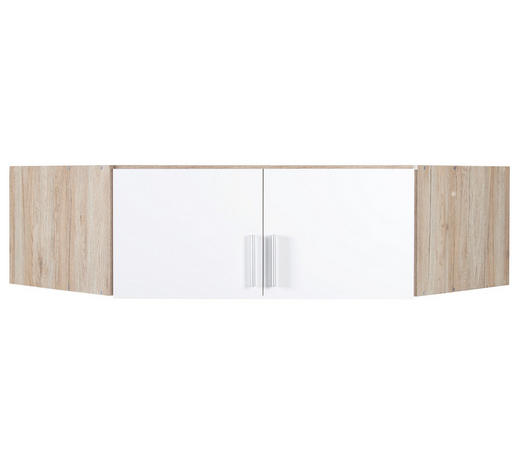 NÁSTAVEC NA SKŘÍŇ, bílá, barvy dubu - bílá/barvy dubu, Konvenční, kompozitní dřevo/umělá hmota (117/39/117cm) - Carryhome