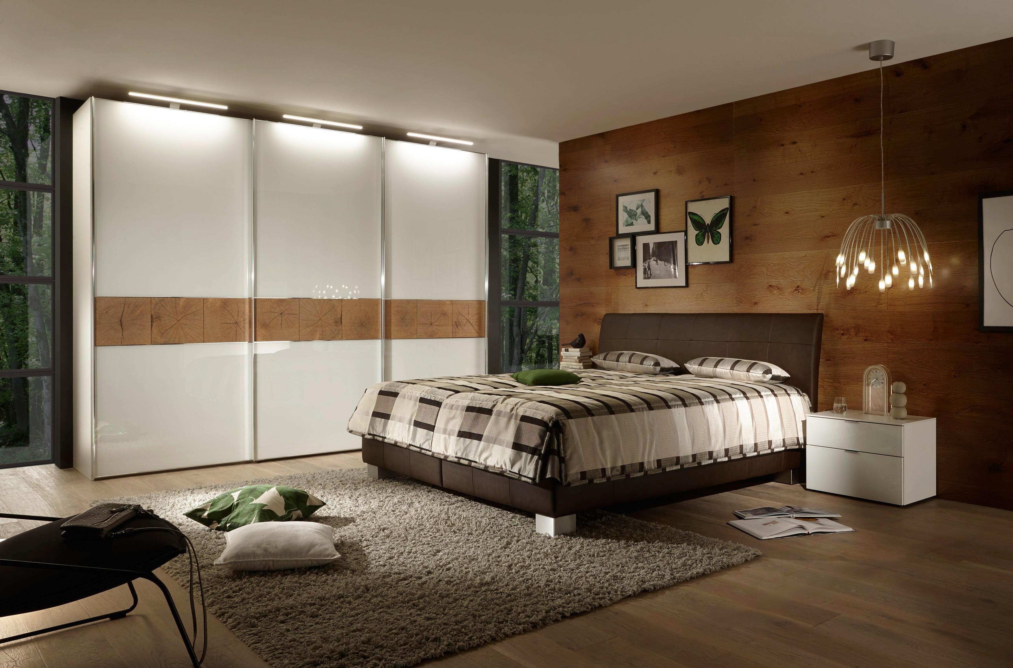 POLSTERBETT 180 cm   x 200 cm   in Leder Braun - Silberfarben/Braun, KONVENTIONELL, Leder/Textil (180/200cm) - ADA AUSTRIA