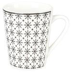 KAFFEEBECHER 250 ml  - Schwarz/Weiß, Trend, Keramik (7,8/9,5cm) - Novel