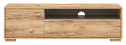 LOWBOARD melaminharzbeschichtet Eichefarben - Eichefarben, Design, Holz (141/41/45cm) - Linea Natura