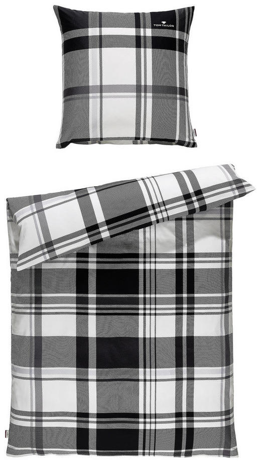 BETTWÄSCHE Satin Gelb, Grau, Grün, Weiß, Hellgrau 135/200 cm - Gelb/Hellgrau, Design, Textil (135/200cm) - Tom Tailor
