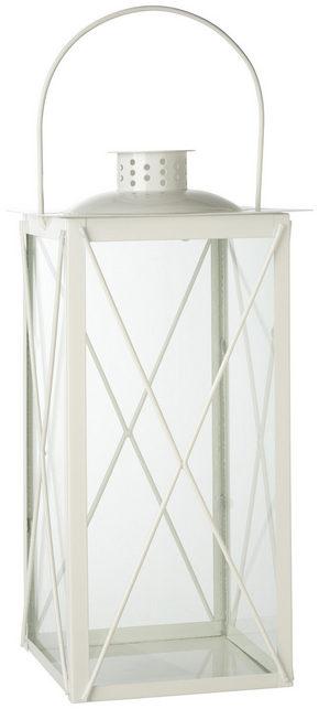 LYKTA - vit, Design, metall/glas (15/30/15cm) - Ambia Home