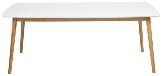 ESSTISCH IN EICHE MASSIV,WEIß Eiche massiv Eichefarben, Weiß - Eichefarben/Weiß, Design, Holz (180/90/75,5cm) - Carryhome