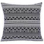 Zierkissen Ethno - Schwarz/Weiß, MODERN, Textil (45/45cm) - Luca Bessoni