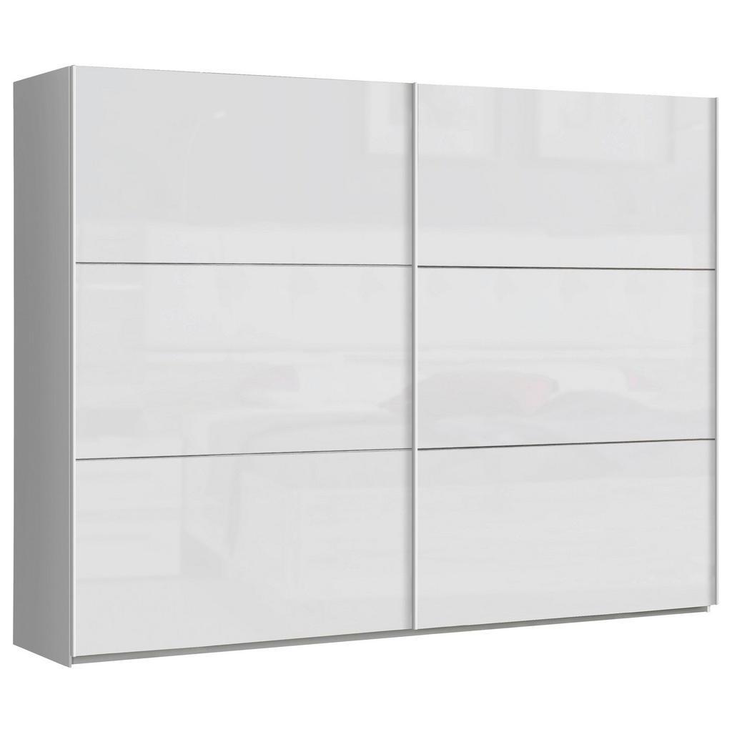 Carryhome SKŘÍŇ S POSUVNÝMI DVEŘMI, bílá, Weiß hochglanz, 269,9/209,7/61,2 cm