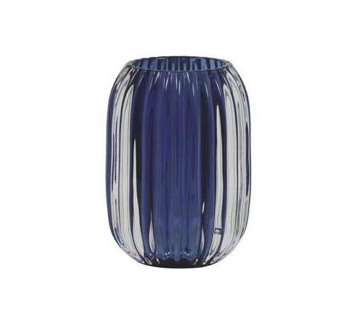 TEELICHTGLAS  - Dunkelblau, LIFESTYLE, Glas (9,5/13cm)