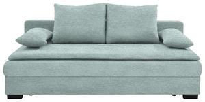 SCHLAFSOFA in Textil Hellblau - Schwarz/Hellblau, KONVENTIONELL, Kunststoff/Textil (207/74-94/90cm) - Venda