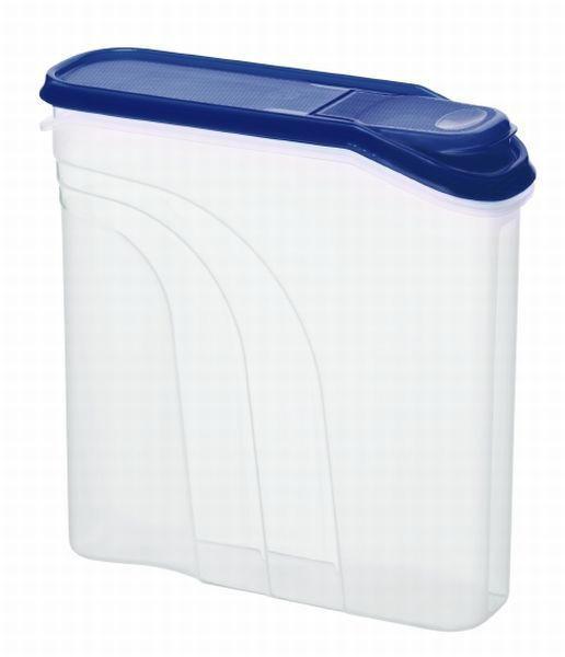 VORRATSDOSE 2,2 L - Blau/Transparent, Basics, Kunststoff (22/7,5/21,5cm)