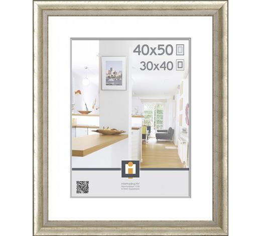 RÁMEČEK 40x50 CM, 59/49/1.65 cm, barvy stříbra - barvy stříbra, Basics, umělá hmota/sklo (59/49/1.65cm)