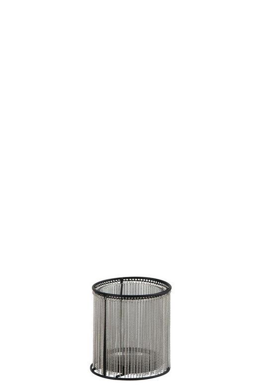TEELICHTHALTER - Silberfarben/Schwarz, Trend, Metall (11/11cm)