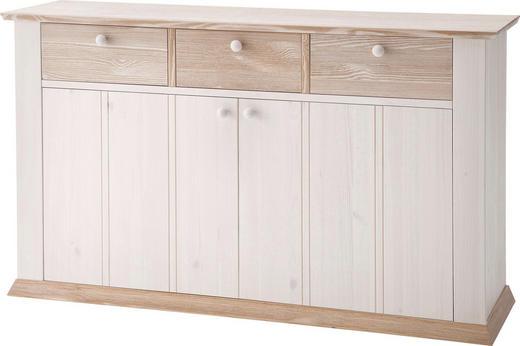 SIDEBOARD Kiefer massiv lackiert Weiß - Weiß, LIFESTYLE, Holz (152,5/88/43cm) - Carryhome